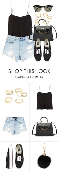 """""""Sin título #13153"""" by vany-alvarado ❤ liked on Polyvore featuring Charlotte Russe, T By Alexander Wang, Alexander Wang, Vans, Louis Vuitton and Ray-Ban"""