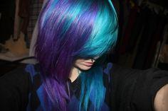 Purple And Blue Hair Tumblr