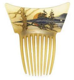 René Lalique horn comb