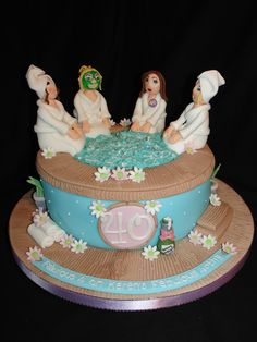 Yummilicious! A spa themed cake.