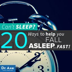 Tips to fall asleep fast! http://www.draxe.com #health #holistic #natural