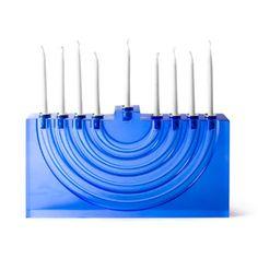 Blue Bel Air Menorah