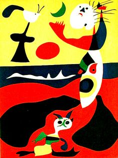 Surrealist artist Joan Miró was born this day in 1893, Summer  Spanish, Surrealism Joan Miro Paintings, Surreal Art, Miro Artist, Joan Miró, Max Ernst, Magritte, Spanish Painters, Spanish Artists, Dali