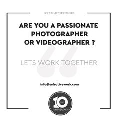 ARE YOU A PASSIONATE  PHOTOGRAPHER OR VIDEOGRAPHER ?  lets work together  contact us at info@selectivework.com   #branding #logo #graphicdesign #brandingdesign #design #brand #marketing #brandingagency #brandingidentity #brandingstudio #brandingdesigner #brandinglogo #brandingexpert #graphicdesigner #brandingconsultant