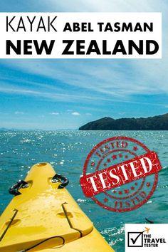 Bucket List Activity - Abel Tasman National Park: Scenic Kayaking New Zealand Visit New Zealand, New Zealand Travel, Adventure Activities, Travel Activities, Nz South Island, White Water Kayak, Abel Tasman National Park, New Zealand Adventure, Working Holiday Visa