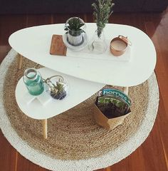 Coffee table marble copper