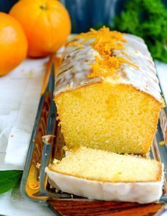 Saftig fluffiger Orangenkuchen Recommendation for a long weekend: juicy fluffy orange cake. Lemon Recipes, Easy Cake Recipes, Ice Cream Recipes, Pastry Recipes, Baking Recipes, Chocolate Cake Recipe Easy, Gateaux Cake, Pumpkin Spice Cupcakes, Food Cakes