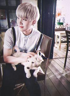 Me: anjingnya lucu... Jdi kpingin bwa pulang orangnya dehh :v Suga jjang jjang man boong boong #stay_with_bts