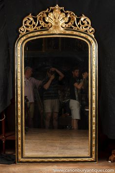 Photo of Large English George II Gilt Pier Mirror Glass Mirrors