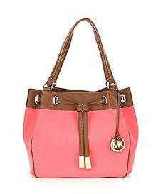MICHAEL Michael Kors Hamilton Center Stripe EastWest Satchel #Dillards | The Style of Handbags | Pinterest | Its you, It is and Shopping