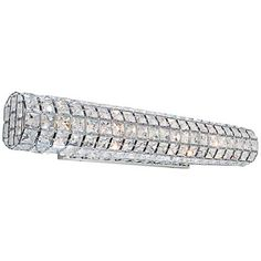 "Artcraft Sterling 24"" Wide Crystal Bath Light - #8M801 