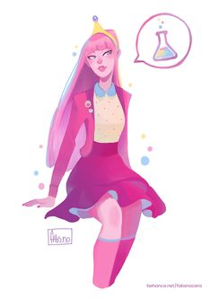 Redesign of Princess Bubblegum from Adventure Time Adventure Time Tumblr, Adventure Time Girls, Adventure Time Marceline, Cartoon Network Adventure Time, Adventure Time Anime, Fanart, Gumball, Marceline And Princess Bubblegum, Princess Bubblegum Cosplay