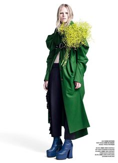 Photo Anna Ewers by Willy Vanderperre for V Fall 2014