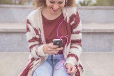 Woman enjoying music by Seronda Estudio on Creative Market