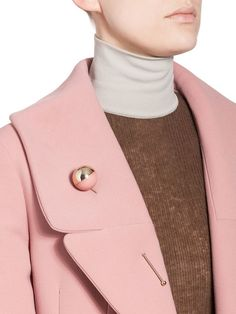 mock neck knit & a pink coat #style #fashion
