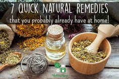 It doesn't take much time or effort to get started with homemade natural remedies! Here are seven quick natural remedies made with items you probably already have in your home.
