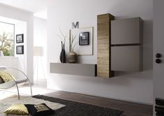 Cube Wall Unit Composition 3 by LC Mobili, Italy Classic Furniture, Contemporary Furniture, Modern Contemporary, Etagere Design, Modern Wall Units, Tv Wall Design, Buy Furniture Online, Grey Wood, Tall Cabinet Storage