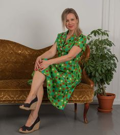 Made in Sandefjord by. Wrap Dress, Bohemian, How To Make, Vintage, Dresses, Style, Fashion, Vestidos, Swag