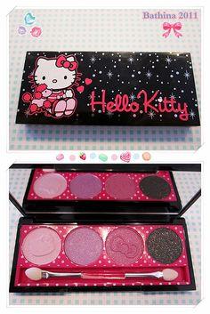 UK Claire's x Hello Kitty eyeshadow palette #HelloKitty #MakeUp