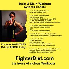 Fighter Diet Delts 2 Die 4 Get Your FREE Workout Right NOW!!! http://fighterdiet.com/athlete/fd-delts-2-die-4-volume-1
