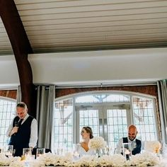 A beautiful view of the speeches for these wedding guests. Looking up at a mass of hydrangea and candlelight. And some seriously happy faces! All for this wonderful wedding . Colshaw Hall, Top Table Flowers, Stoke On Trent, Wedding Season, Hydrangea, Happy Faces, Outdoor Decor, Florals, Tables
