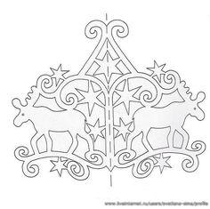 Трафарет для вытынанки с оленями