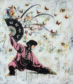 Tai chi art (if you know who the artist is please feel free to comment).