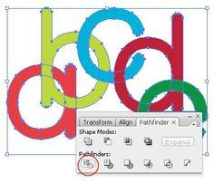 Create Interlocked Text & Shapes in Illustrator | dezign Musings
