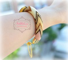 Bead crochet bracelet  Fashion jewelry  Beadwork bracelet