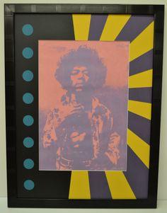 Jimi Hendrix print is enhanced by this psychedelic mat design cut on a computerized mat cutter. Golf Art, Fine Art Prints, Canvas Prints, Jimi Hendrix, Landscape Art, Interesting Stuff, Custom Framing, Psychedelic, Picture Frames