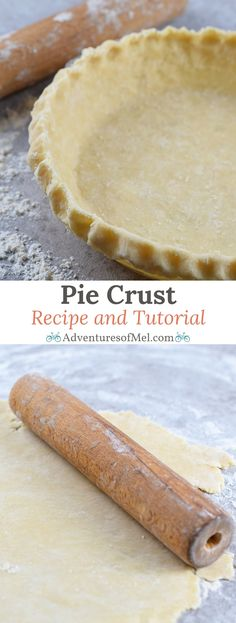 Pie crust recipe using 4 staple kitchen ingredients. Easy step by step tutorial for a delicious traditional homemade crust.
