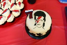 As David Bowie is his favourite musician he wanted a David Bowie birthday. The party was held at a local music school. Birthday Parties, Birthday Cake, 7th Birthday, Cake Cookies, Sugar Cookies, David Bowie Birthday, Rockstar Birthday, Marshmallow Fondant, True Gift