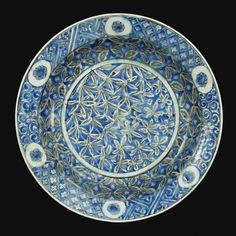 A Large Safavid Blue and White Dish, Persia, 17th century