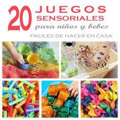 A estas alturas habrás oído hablar de los juegos sensoriales, que se centran en el desarrollo de los sentidos. Hoy vamos a ver 20 tipos de juegos sensoriales para niños y bebes.