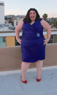 Jessica Howard Beaded Waist Dress with Artichoke Skirt on Gwynnie Bee member @bigcurvylove