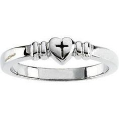 Heart and Cross Purity Ring - http://www.loveuniquerings.com/purity-rings/heart-and-cross-purity-ring/