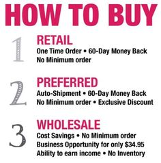 Plexus has a 1% return rate!  Preferred customer purchases after 3 months receive an additional 10% off your already discounted prices!  Wholesale! Become an ambassador! one time yearly fee of $34.95 and receive your own website for free. By doing that you buy all the products cheapest price and can choose to make an income off (your own products) or share with others! To get YOUR products FREE! It's so easy  www.shopmyplexus.com/nikkichavez