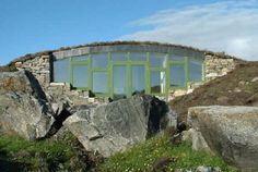 This earth sheltered house,in the wilds of the Outer Hebrides, provides a perfect living environment for harsh weather. This home's support walls are constructed of PolarWall (polystyrene).polarwall.co.uk