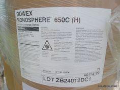 DOWEX MONOSPHERE 650C H / FORM CATION EXCHANGE RESIN 265 LB DRUM /SIEMENS/DOW…