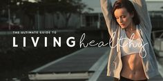 Blog header template - Edit online in Easil: The ultimate guide to living healthy