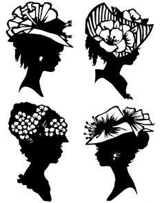 silhouettes - Linda Young - Picasa Web Albums Het  MTC///Absolutely Love.. i have them in my bathroom for the Victorian look lol C.W.