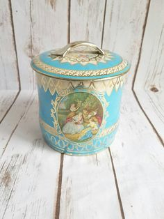 Victorian Tin Box Shabby Chic Tin Vintage by ShabbyChicJCouture
