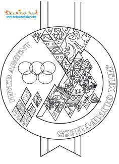 Coloriage torche olympique silhouette olympic games olympics et games - Drapeau olympique a colorier ...