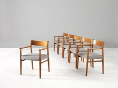 Arne Vodder Set of Six Dining Chairs  3