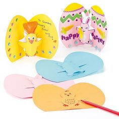 Easter Chick  Bunny PopOut Cards for Children to Decorate and Embellish with Stickons Pack of 8 >>> Click image to review more details.