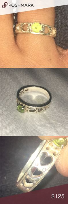 Sterling Silver Peridot Ring Size 9. Sterling Silver Peridot Ring. Jewelry Rings