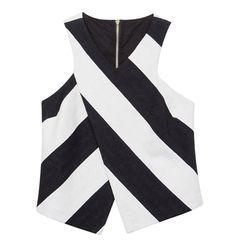 Striped asymmetrical blouse Blouse, Collection, Blouses, Woman Shirt, Hoodie, Top