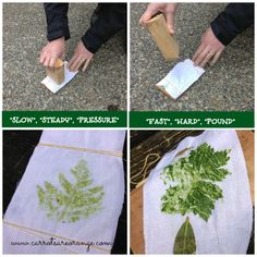 Preschool Physical Science Activity {Leaf Pounding}