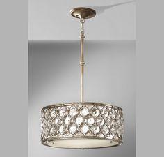 Feiss F2568/3BUS Lucia 3 - Light Shade Pendant in Ceiling Lights, Pendants, Drum Pendants: ProgressiveLighting.com