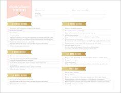 FREE Printables For Bridal Shower Planning